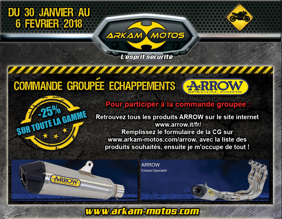 Commande Groupée Échappements ARROW avec Arkam Motos ! NEWSLETTER_CG_ARROW