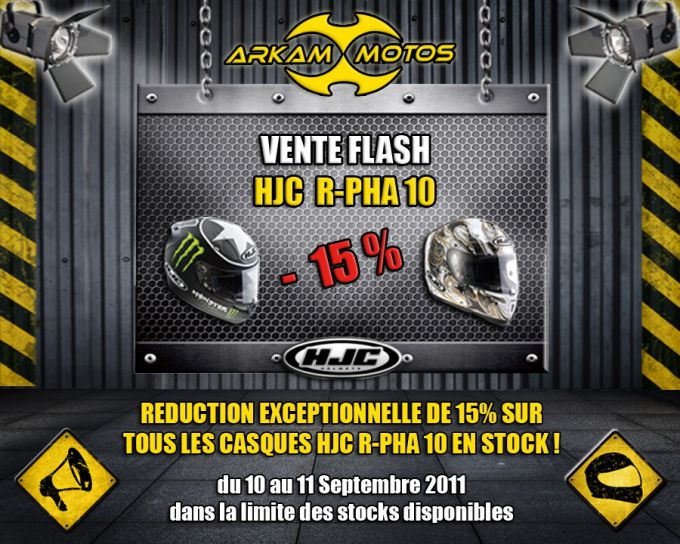[VENTE FLASH] Casques HJC R-PHA 10 à -15% chez Arkam Motos ! Crbst_flash_HJC